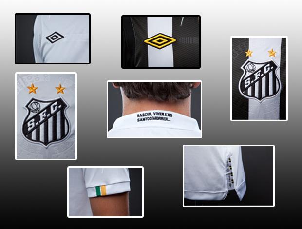 Detalhes camisa Santos (Foto: Reprodução)
