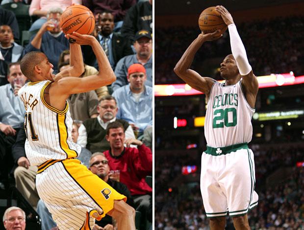 Ray Allen e Reggie Miller NBA. (Foto: Getty Images)