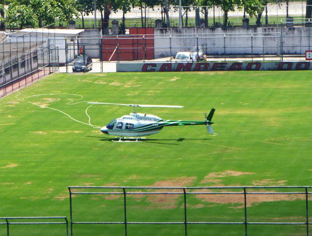 helicoptero gávea luxemburgo flamengo (Foto: Marcelo Baltar/Globoesporte.com)