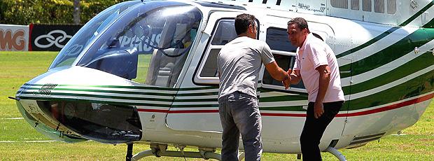 helicoptero luxemburgo flamengo (Foto: Ivo Gonzalez /Globo)