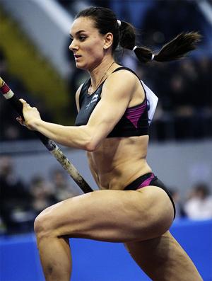 Yelena Isinbayeva Pole Vault Stars Ucrânia (Foto: AP)
