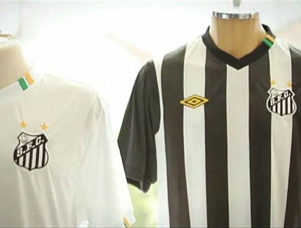 Nova camisa do Santos (Foto: Reprodução)