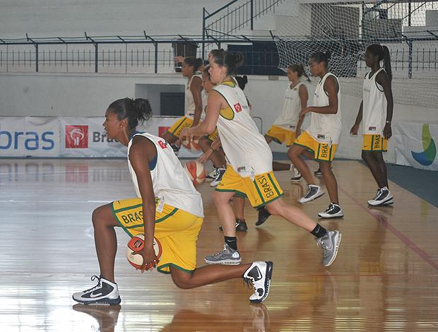 seleção basquete feminino treino (Foto: João Gabriel Rodrigues/Globoesporte.com)