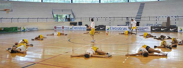 seleção basquete feminino, treino (Foto: João Gabriel Rodrigues/Globoesporte.com)