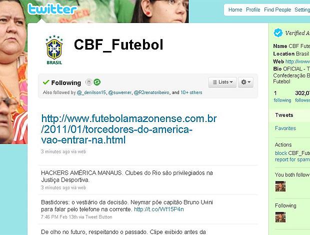twitter da CBF hackeado  (Foto: Reprodução / Twitter)