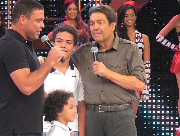Ronaldo filhos Faustão (Foto: Marcelo Prado / Globoesporte.com)