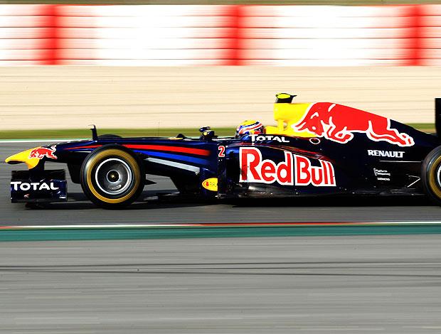 Mark Webber no teste em Barcelona (Foto: Getty Images)
