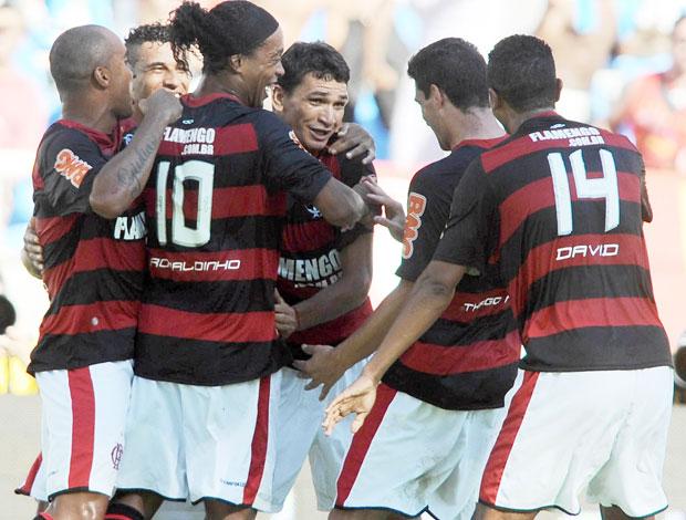 Comemoração Flamengo (Foto: Vipcom)