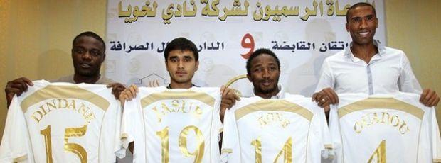 Lekhwiya apresenta jogadores estrangeiros como reforços (Foto: Reuters)