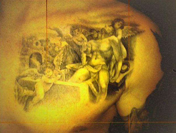 Nova tatuagem de David Beckham (Foto: Divulgação)