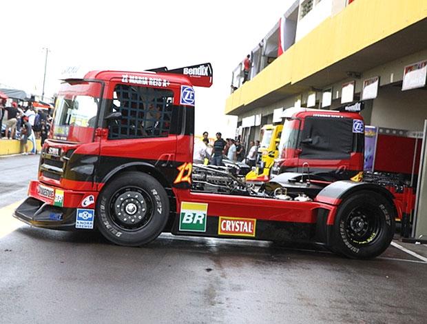 Vista lateral do caminhão do Flamengo  (Foto: Divulgação / Site Oficial)