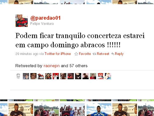 twitter Felipe goleiro (Foto: Reprodução / Twitter)