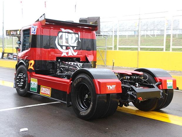 Vista da traseira do caminhão do Flamengo na Fórmula Truck (Foto: Divulgação / Site Oficial)