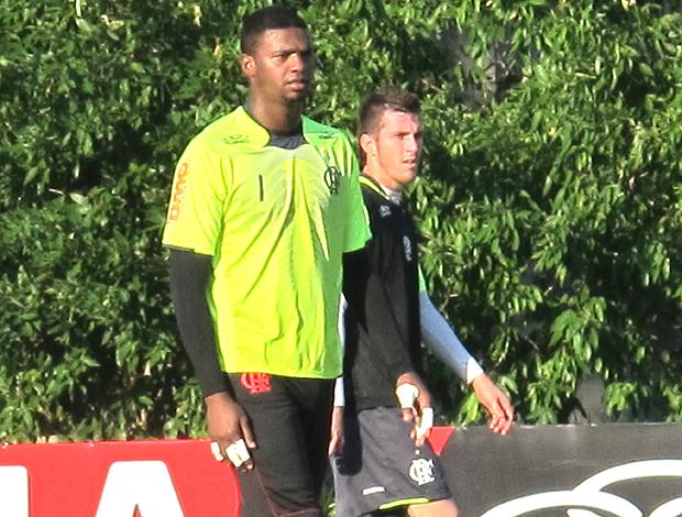Felipe treino Flamengo (Foto: Richard Fausto / Globoesporte.com)
