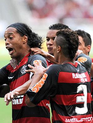 Ronaldinho gol Flamengo (Foto: André Durão / Globoesporte.com)