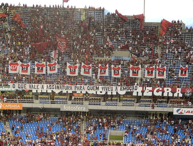 Torcida Flamengo (Foto: Thiago Fernandes / Globoesporte.com)