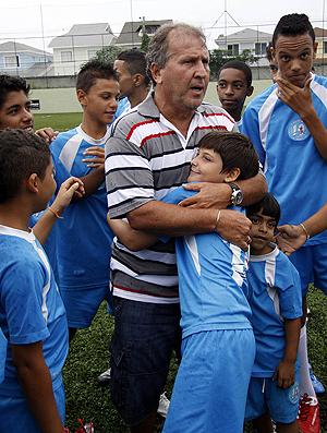 zico , festa (Foto: André Durão/Globoesporte.com)