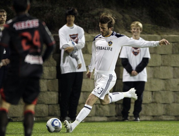 David Beckham, do L.A. Galaxy (Foto: AP)