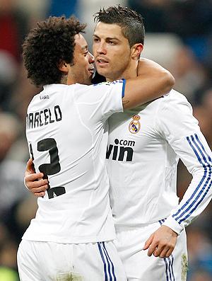 Marcelo Cristiano Ronaldo gol Real Madrid (Foto: Reuters)