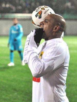 Roberto Carlos no Anzhi, da Rússia (Foto: Divulgação)