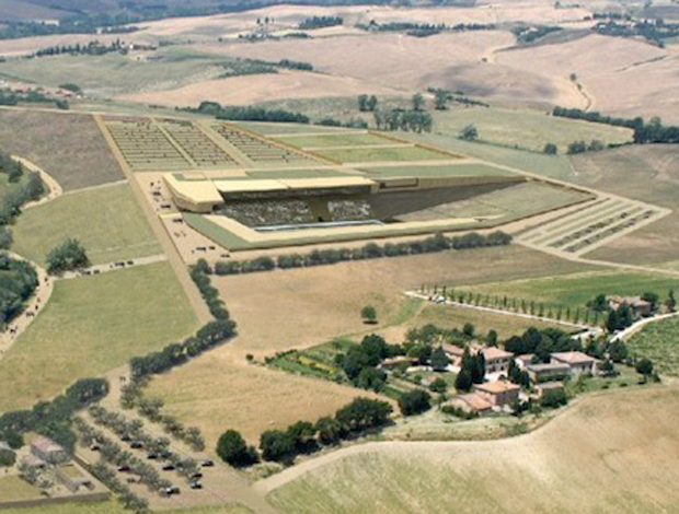 Novo estádio do Siena na Itália (Foto: Divulgação)
