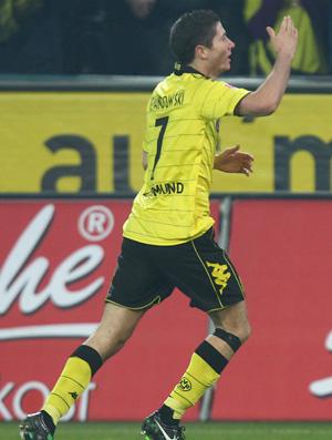 Robert Lewandowski Borussia Comemoração (Foto: Get Image)