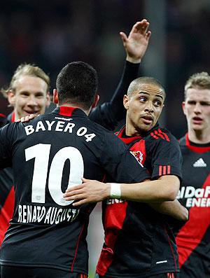 Renato Augusto Leverkusen comemora gol (Foto: AP)
