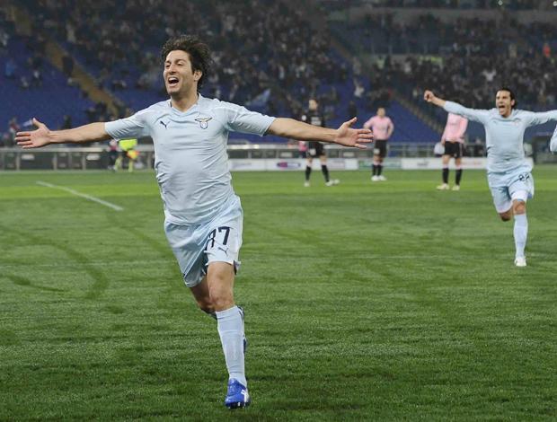 Comemoração Lazio Giuseppe Sculli  (Foto: AP)