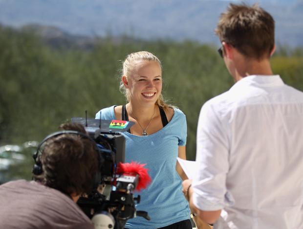 Caroline Wozniacki tênis Indian Wells (Foto: Getty Image)