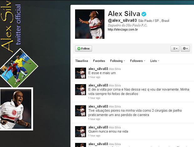 reprodução twitter alex silva são paulo (Foto: Divulgação / Twitter)