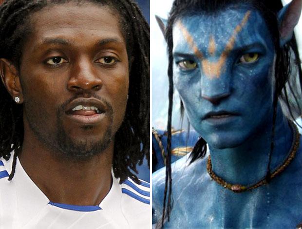 Adebayor Avatar (Foto: Montagem sobre foto da EFE)