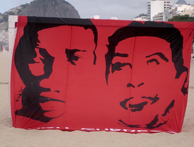 bandeirão ronaldinho gaúcho assis flamengo (Foto: Lucas Loos / Globoesporte.com)