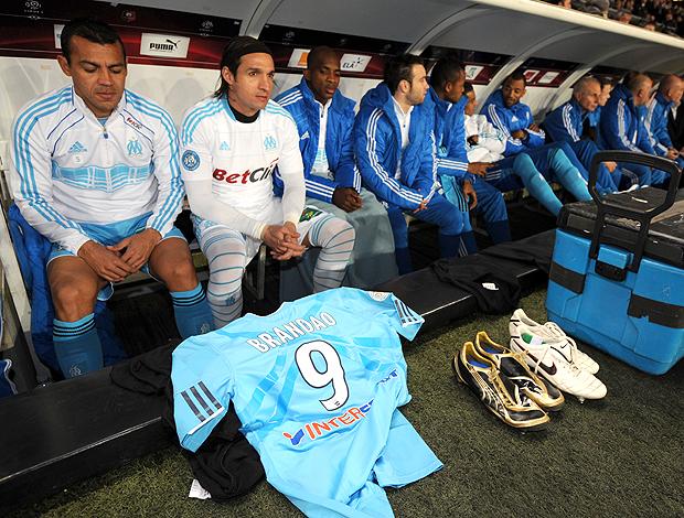 Olympique de Marseille camisa Brandão (Foto: AFP)