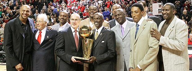 Chicago Bulls, comemoração 20 anos (Foto: AP)