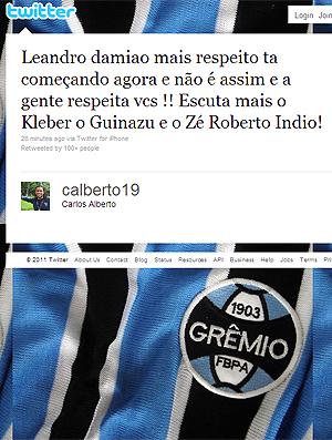 Twitter Carlos Alberto (Foto: Reprodução)