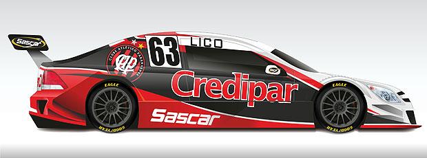 Stock Car: o layout do carro de Lico Kaesemodel e Atlético-PR (Foto: Divulgação)