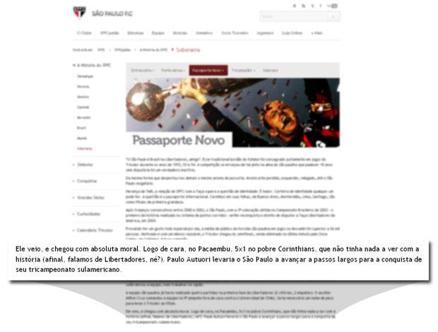 Montagem site São Paulo (Foto: Globoesporte.com)