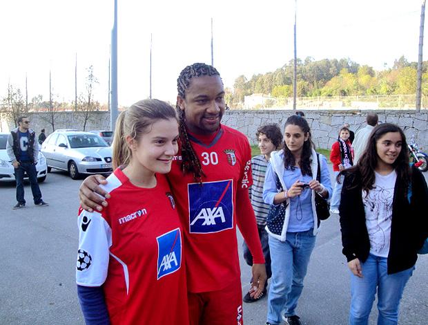 Alan, jogador brasileiro do Braga (Foto: Rafael Maranhão / GLOBOESPORTE.COM)