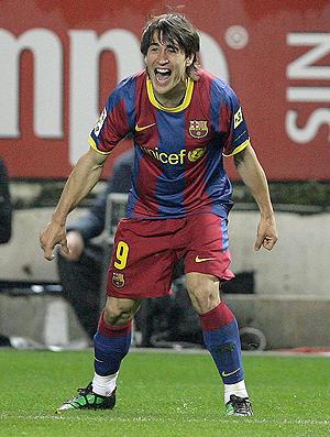 daniel alves barcelona x Getafe BojanKrkic (Foto: AP)