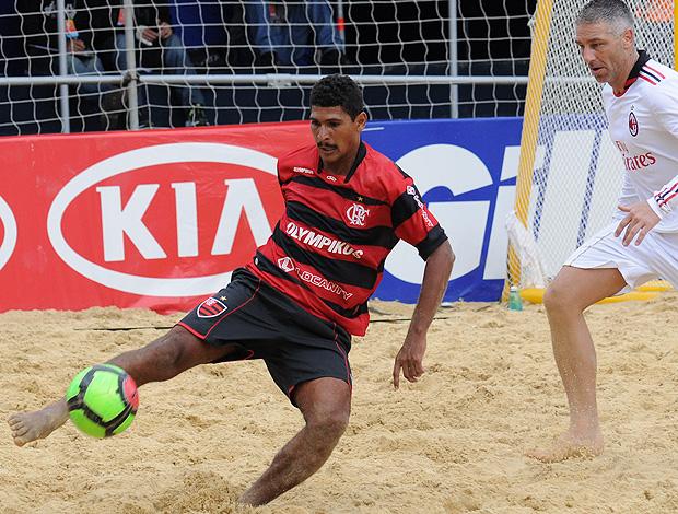 beach soccer atacante André Flamengo do Mundialito de Futebol de Areia milan (Foto: Divulgação / Deco Pires)
