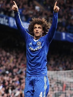 david luiz chelsea  gol manchester city (Foto: agência Getty Images)