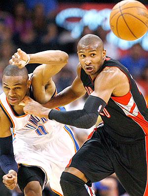Leandrinho Toronto Raptors nba basquete (Foto: Reuters)