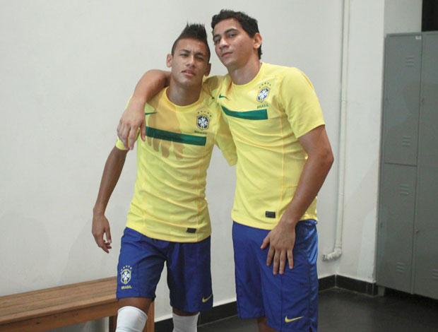 Neymar e Ganço (Foto: Agência Estado)