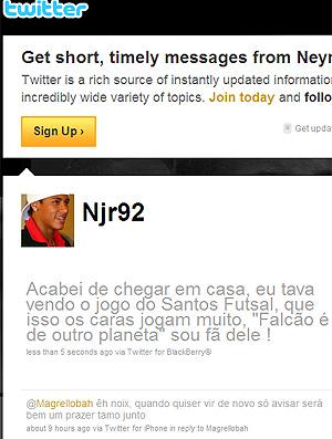 Twitter Neymar (Foto: Reprodução)