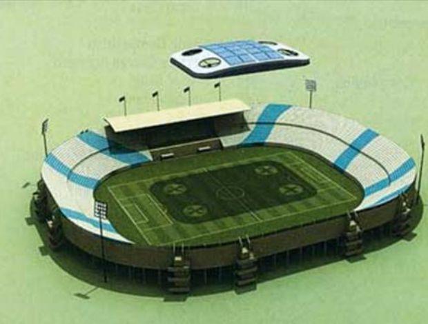 projeto de estádio no qatar com nuvem artificial (Foto: Reprodução/The Peninsula)