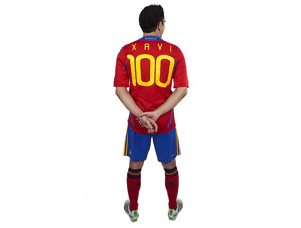 xavi 100 jogos espanha (Foto: EFE)