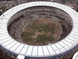 estádio Maracanã em obras (Foto: Reuters)