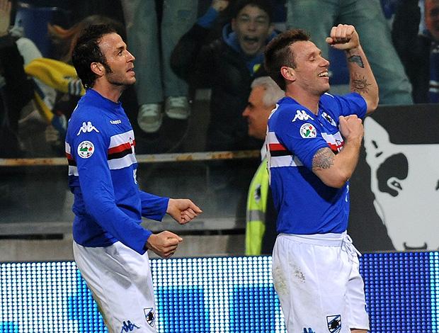 Cassano  Pazzini sampdoria (Foto: Getty Images)