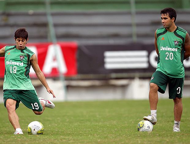 Conca e Deco treino Fluminense (Foto: Agência Globo)
