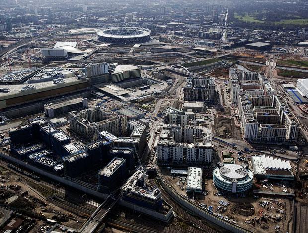 Vista aérea da Vila Olímpica (Foto: Getty Images)